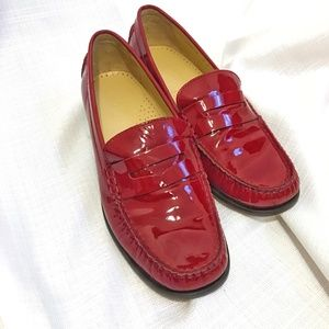 Cole Haan Red Patent Loafers Sz 7.5/8